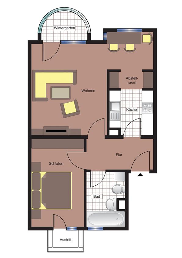 1.5 Zimmer Wohnung in Wildau